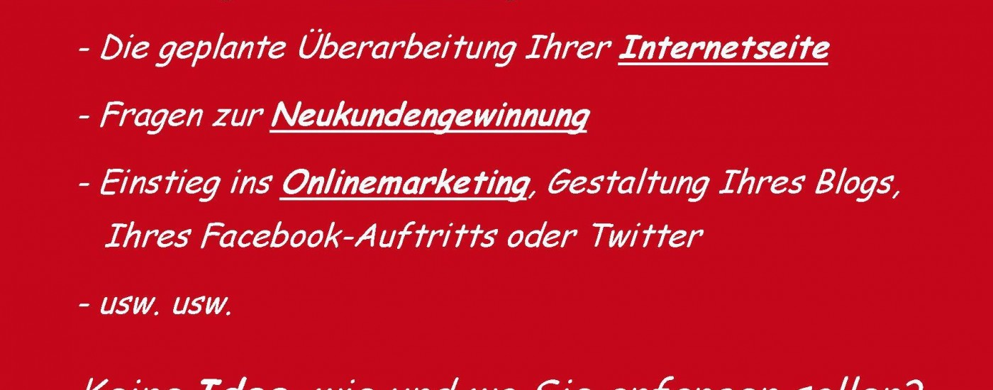 Marketing auf Zuruf, Neukundengewinnung, Onlinemarketing, Idee