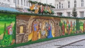 Weihnachtsdekoration am Freyung Wien