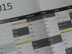 Wandkalender - Jahresplaner
