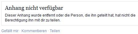 Facebook Anhang Nicht Verfügbar