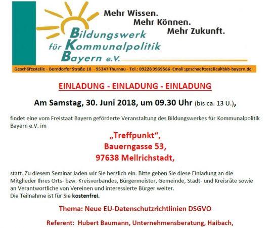 DSGVO Erfahrungsbericht / Seminar